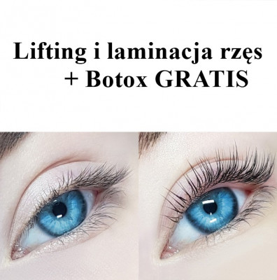 lifting i laminacja rzęs + Botox GRATIS